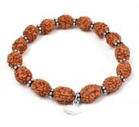3 mukhi Mahajwala bracelet from Java with silver chakri - 14mm