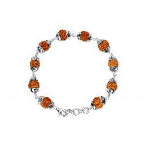 6 Mukhi Rudraksha Mars power bracelet - Java with Self Designer Capping