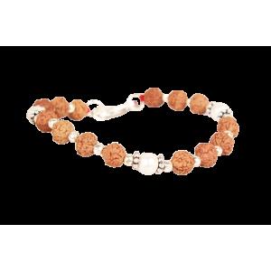 6 mukhi Java Bracelet with Pearl