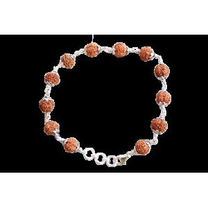 6 Mukhi Mars bracelet - Java in Silver Capping