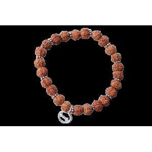 6 Mukhi Mars bracelet - Java in Silver Spacer