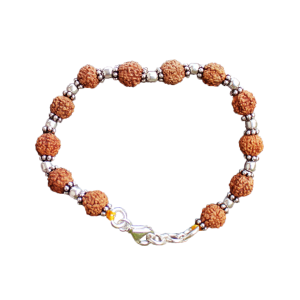 6 Mukhi Mars Power Bracelet - Java in Silver Balls and Spacers