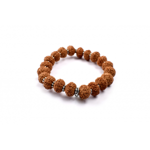 7 mukhi Goddess Laxmi  bracelet from Java with silver chakri - 12mm