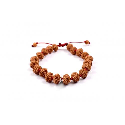 7 mukhi Goddess Laxmi  bracelet from Java in silk thread - 11mm