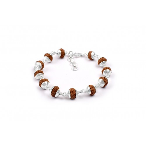 7 mukhi Goddess Laxmi  Bracelet from Java with Silver Capping