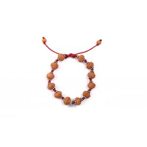 7 mukhi Goddess Laxmi  bracelet from Java with silver chakri in thread 11 mm
