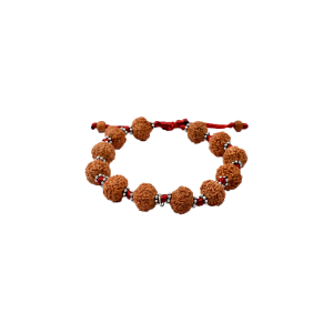 7 mukhi Goddess Laxmi  bracelet from Java with silver chakri in thread 14 mm