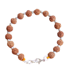 7 Mukhi Bracelet in Silver balls - 9 mm