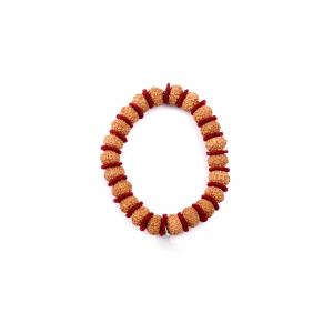 8 mukhi Ganesha bracelet from Java in Woolen Spacers - 11mm