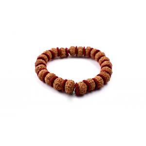 8 mukhi Ganesha bracelet from Java in Woolen Spacers - 12mm