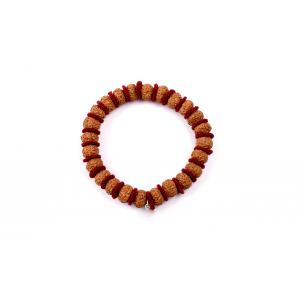 9 mukhi Durga Shakti bracelet from Java in woolen spacers 10 mm