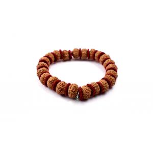 9 mukhi Durga Shakti bracelet from Java in woolen spacers 12 mm