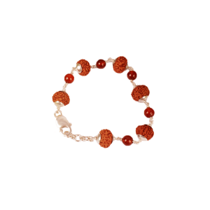 9 Mukhi with Gomed Bracelet in Silver