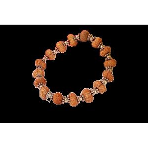 Surya wrist bracelet - Java in Woolen Spacers