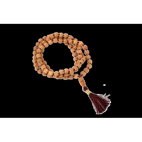 Rudraksha Mala 6mm - Chikna beads