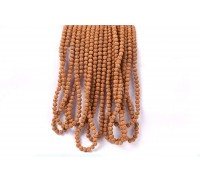 Semi Chikna Rudraksha Mala - Set of 9 - 6mm