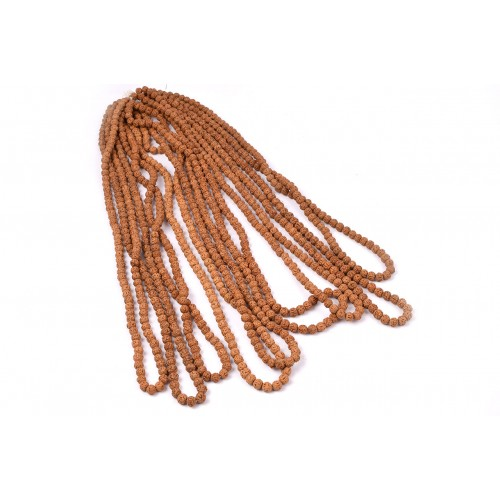 Semi Chikna Rudraksha Mala - Set of 9 - 8mm