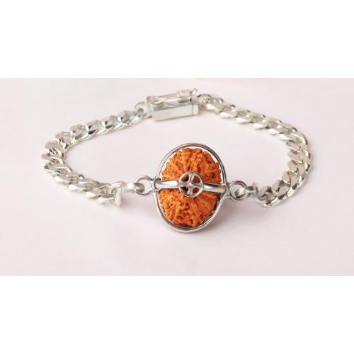 Hanuman Bracelet - Java Large Silver Chain