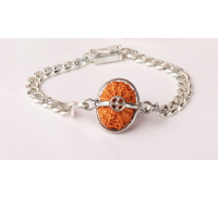 Hanuman Bracelet - Java Medium Silver Chain