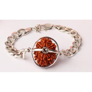 Narayan Krishna Bracelet Nepal Large Silver Chain