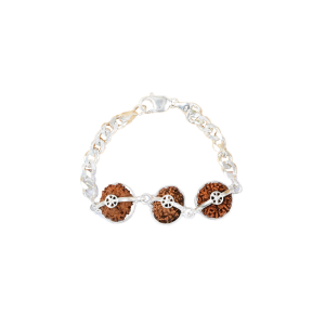 Peace Power And Protection Bracelet - Java Medium Silver Chain