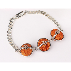 Peace Power And Protection Bracelet - Java Small Silver Chain