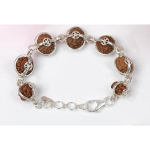 Sanjeevani Bracelet - Java Large Silver Clasp