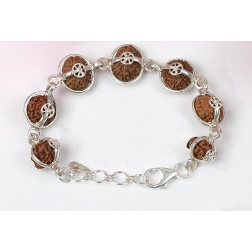 Sanjeevani Bracelet - Java Small Silver Clasp