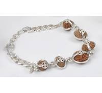 Supreme Kavacham Bracelet - Java Small Silver Chain