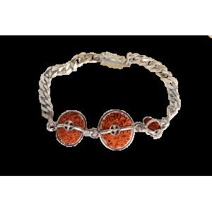 Courage Bracelet - Java Medium Silver Chain