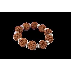 5 Mukhi Nepal Rudraksha Beads Bracelet - IX