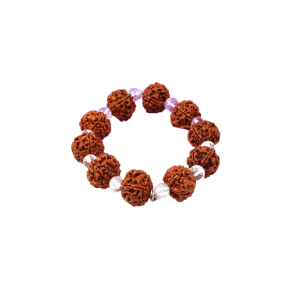 5 Mukhi Nepal Rudraksha Beads Bracelet - VI