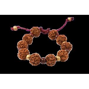 5 mukhi Nepal Rudraksha bead Bracelet - VIII