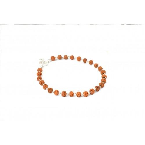 Rudraksha Five mukhi Bracelet in silver wire
